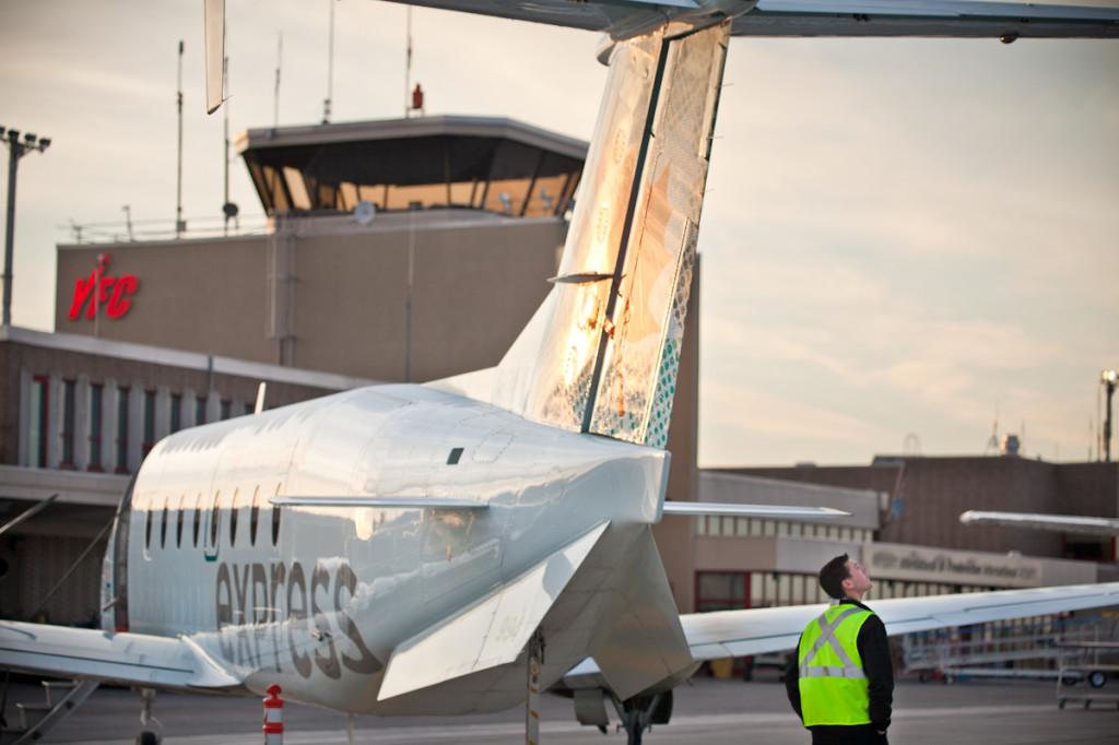 Aircraft inspection at YFC