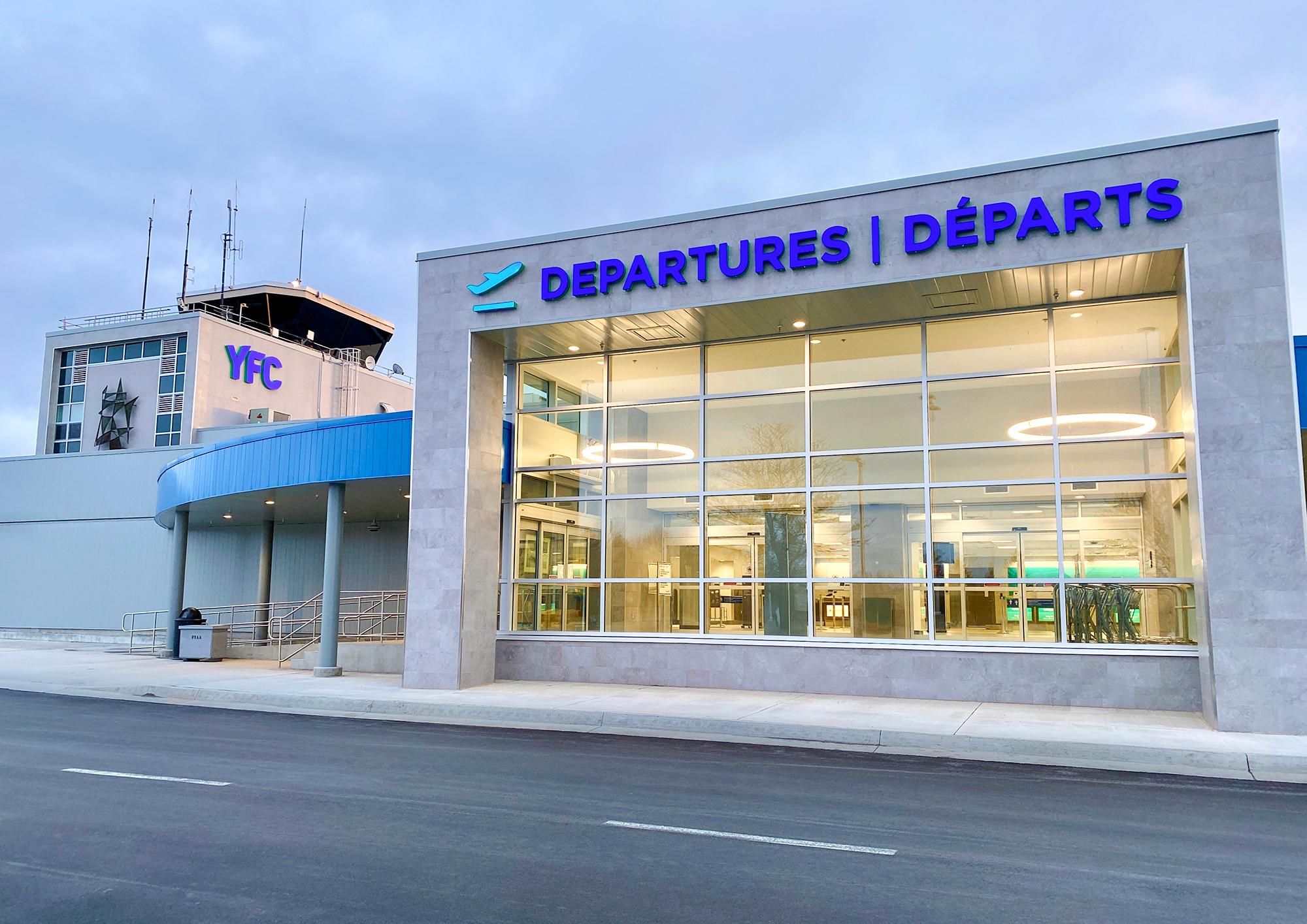 Terminal exterior April 2021