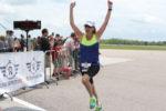 Nicola celebrates the finish line at the 2016 YFC Runway Run