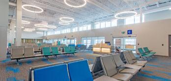 la nouvelle salle d'embarquement